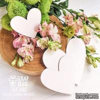 Чипборд ScrapBox - Три сердечка простых Os-080