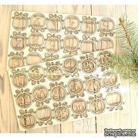 Чипборд ScrapBox - Набор чисел для рождественского календаря (advent calendar) Os-Hi-325