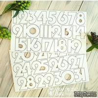 Чипборд ScrapBox - Набор чисел для рождественского календаря (advent calendar) Os-Hi-326