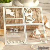 Чипборд ScrapBox - Карточка Project Life набор из 4-х шт. PL-044