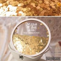 Мини вырубка TM ScrapBox - золотая Qb-006