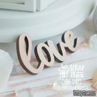 Деревянные фишки ScrapBox - Надпись Love маленькая Wfi-017