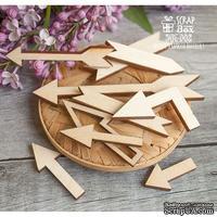 Деревянный декор ScrapBox - Набор деревянных стрелочек Wfo-002
