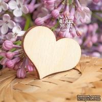 Деревянный декор ScrapBox - Сердечко Wfo-003
