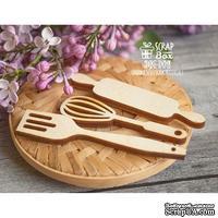 Деревянный декор ScrapBox - Кухонный набор Wfo-009