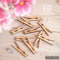 Чипборд ScrapBox - Набор деревянніх прищепок 10шт Wfo-039