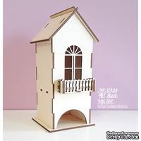 Деревянный декор ScrapBox - Чайный домик с балконом Wfs-001