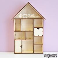 Деревянный декор ScrapBox - ШадоуБокс домик большой Wfs-005