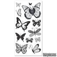 Набор акриловых штампов Hampton Art - Patterned Butterflies