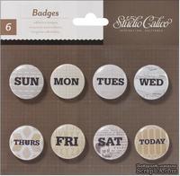 Самоклеющиеся украшения-фишки Studio Calico - Classic Calico 3 Self-Adhesive Tin Badges