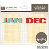 Карточки для журналинга Studio Calico - Snippets Journal Cards - Months - ScrapUA.com