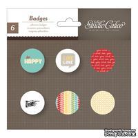 Самоклеющиеся украшения-фишки Studio Calico - Snippets Self-Adhesive Tin Badges