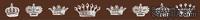 """Бумажный скотч с принтом """"Короны"""", ширина 15 мм, длина 8 м"""