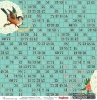 Бумага для скрапбукинга от ScrapBerry's 30х30см  односторонняя Ботанический сад