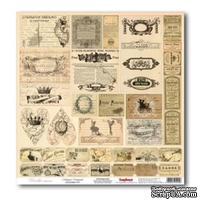Лист бумаги для скрапбукинга  от ScrapBerry's - Версаль - Карточки Двор министров