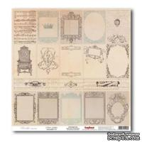 Лист бумаги для скрапбукинга  от ScrapBerry's - Версаль - Карточки  Зеркальная галерея