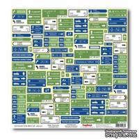 Лист бумаги для скрапбукинга  от ScrapBerry's - Вокруг Света - Новые маршруты
