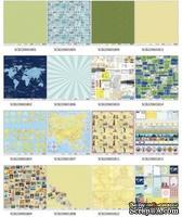 Набор бумаги для скрапбукинга Вокруг света, 30,5х30,5см, 16 листов от ScrapBerry's - Вокруг Света