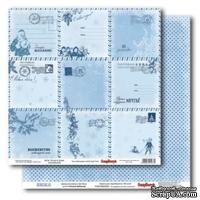 Лист бумаги для скрапбукинга  от ScrapBerry's - Зима - Зима Новорічна пошта