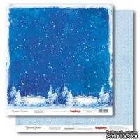 Лист бумаги для скрапбукинга  от ScrapBerry's - Русская зима - Зимняя ночь