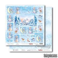 Лист бумаги для скрапбукинга  от ScrapBerry's - Русская зима - Карточки 1