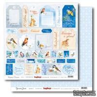Лист бумаги для скрапбукинга  от ScrapBerry's - Русская зима - Карточки 2