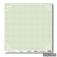 Лист бумаги для скрапбукинга  от ScrapBerry's - Свадебная - Нежно-зеленый 1