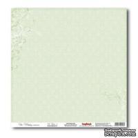 Лист бумаги для скрапбукинга  от ScrapBerry's - Свадебная - Нежно-зеленый 2