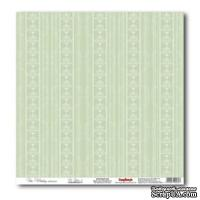 Лист бумаги для скрапбукинга  от ScrapBerry's - Свадебная - Нежно-зеленый