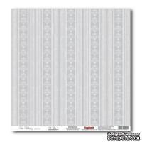 Лист бумаги для скрапбукинга  от ScrapBerry's - Свадебная - Серый