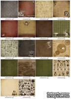 Набор бумаги для скрапбукинга 30,5х30,5 см 180 гр/м, двусторонняя, Механические иллюзии, 9 листов - ScrapUA.com
