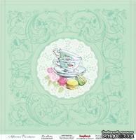 Лист бумаги для скрапбукинга от ScrapBerry's - Полуденный Чай, Чайна