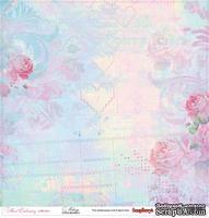 Лист бумаги для скрапбукинга от ScrapBerry's - Цветочная вышивка - Меланж, 30,5 х 30,5 см