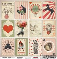 Лист бумаги для скрапбукинга от ScrapBerry's - Старый цирк  - Волшебная колода, 30,5 х 30,5 см