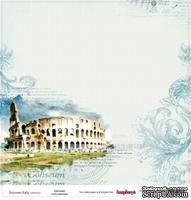 Лист бумаги для скрапбукинга от ScrapBerry's - Итальянские каникулы - Колизей, 30,5 х 30,5 см