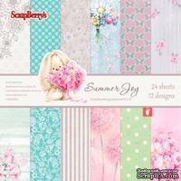 Набор бумаги для скрапбукинга от ScrapBerry's - Летняя Радость,15 х 15 см, 24 листа, SCB220605112G