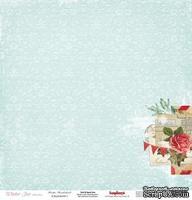 Односторонний лист бумаги от Scrapberry's - Зимнее утро - Сказка, 30х30 см