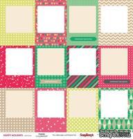 Карточки для вырезания от Scrapberry's - Зимние каникулы - Рамки, 30,5х30,5 см, 180 гр/м, двухсторонний, 1 лист