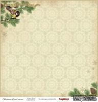 Лист бумаги от Scrapberry's - Зимний лес - Ночь перед Рождеством, 30x30 см