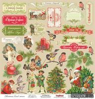 Карточки для вырезания от Scrapberry's - Ночь перед Рождеством - Рождественские подарки, 30,5х30,5 см., 180 гр/м, односторонний, 1 лист