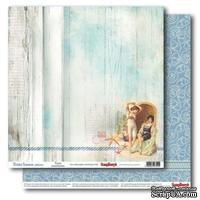 Бумага для скрапбукинга 30,5х30,5 см 180 гр/м двосторон Курортный роман - Нежные воспоминания