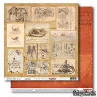 Бумага для скрапбукинга 30,5х30,5 см 180 гр/м двосторон Лавка древностей - Открытие