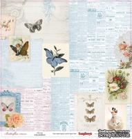 Бумага односторонняя для скрапбукинга от ScrapBerry's - Бабочки - Красота,30,5х30,5 см