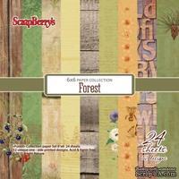 Набор бумаги для скрапбукинга от ScrapBerry's - В лесу, 15х15 см, 170 гр / м, 24 шт