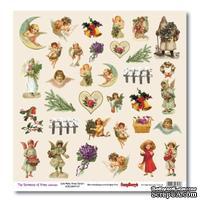 Бумага для скрапбукинга от ScrapBerry's - Новогодний пейзаж - Карточки 1, 30,5х30,5 см, 190 гр/м, односторонняя