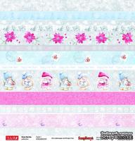 Бумага для скрапбукинга от ScrapBerry's - Зайка Ми - Зимняя ягода - Карточки 1, 30,5х30,5 см, 190 гр/м, одноcторонняя