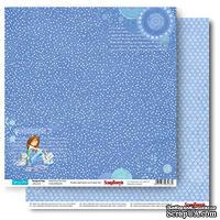 Бумага для скрапбукинга от ScrapBerry's -  Подружки - Звёзды вокруг, 30,5х30,5 см,  190 гр/м, двусторонняя