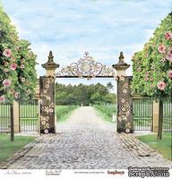 Бумага для скрапбукинга от ScrapBerry's - Цветущий Сад - Прогулка в саду, 1 лист, 30,5х30,5 см 190 гр / м, односторонняя