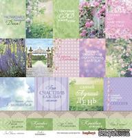 Бумага для скрапбукинга от ScrapBerry's - Цветущий Сад - Карточки 1, 1 лист, 30,5х30,5 см, 190 гр/м, односторонняя