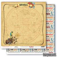 Бумага для скрапбукинга от ScrapBerry's - Сокровища пиратов - Настоящее приключение, 30,5х30,5 см 190 гр/м, двусторонняя